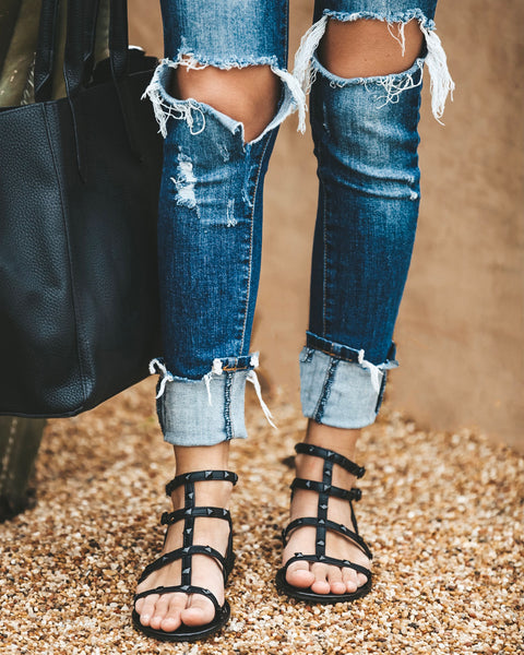 Run The World Studded Sandal