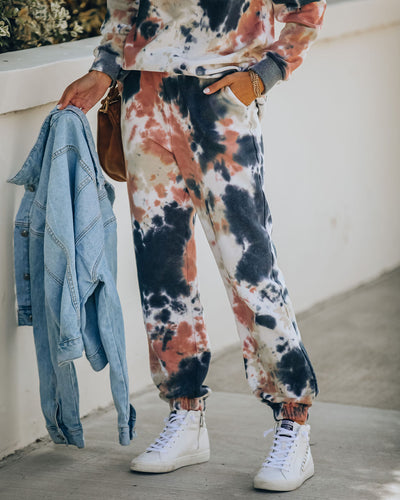 Fairbanks Cotton Blend Pocketed Tie Dye Joggers