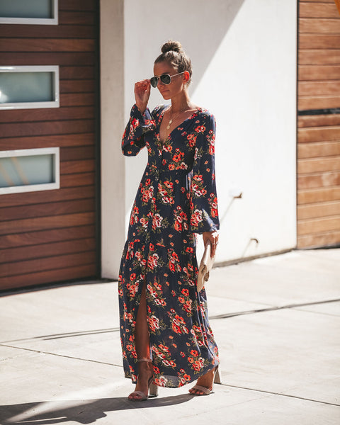 Deep Love Button Down Maxi Dress