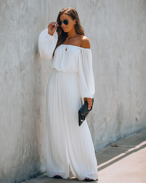Whisper I Love You Pleated Wide Leg Jumpsuit