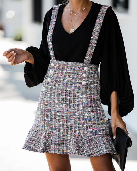 Veronica Embellished Tweed Overall Skirt