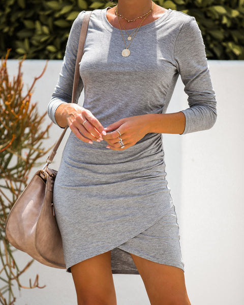 Model Off Duty Gathered Bodycon Dress