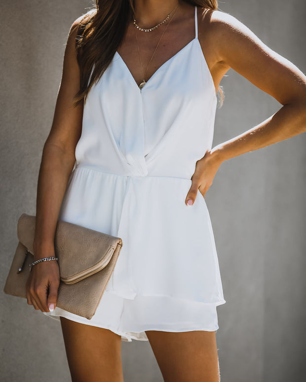 Swivel Twist Romper - Off White