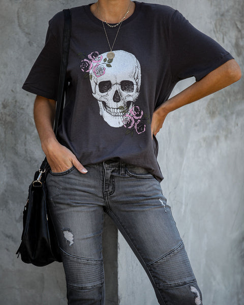 Posie Skull Cotton Tee - FINAL SALE