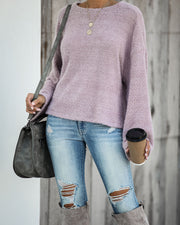 South For The Winter Soft Knit Top - Mushroom - FINAL SALE