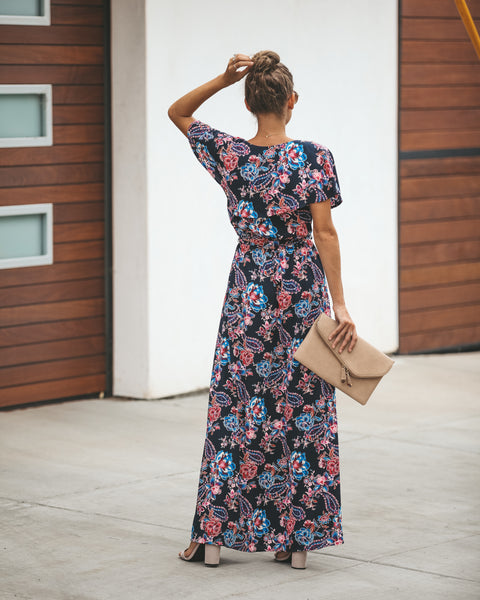 Papillon Wrap Maxi Dress - FINAL SALE