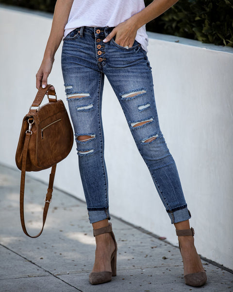 Notebook Distressed Mid Rise Skinny