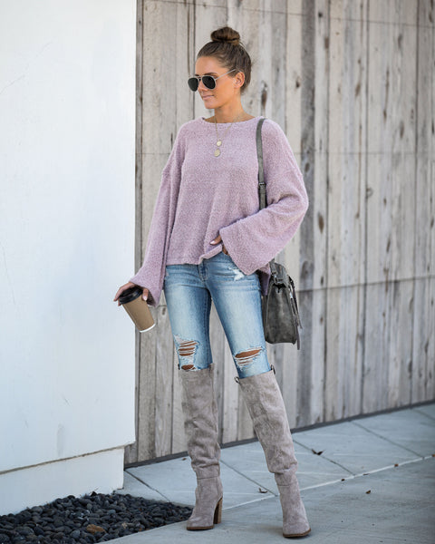 South For The Winter Soft Knit Top - Mushroom