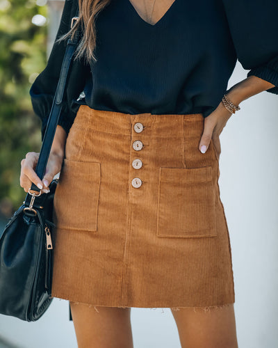 Palmer Pocketed Corduroy Mini Skirt