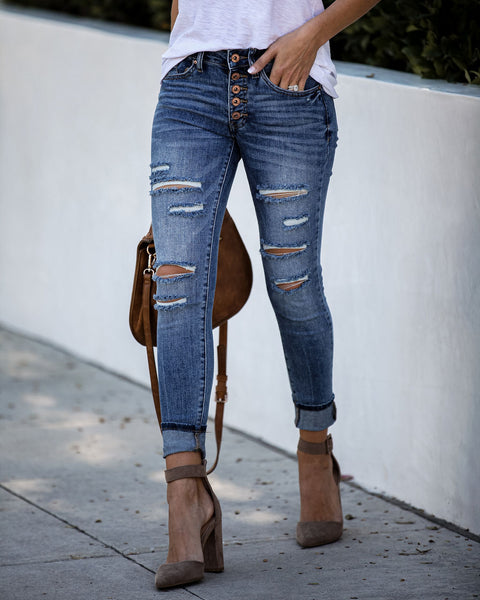 Notebook Distressed Mid Rise Skinny - FINAL SALE