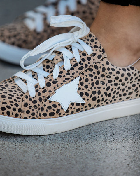 Invincible Faux Suede Cheetah Sneakers
