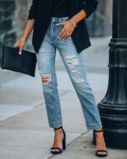 Boy Meets Girl Distressed Denim