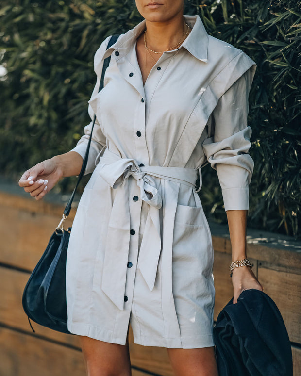 Gomez Pocketed Button Down Shirt Dress view 6