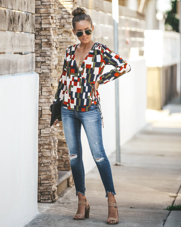 Diane Printed Wrap Blouse  - FINAL SALE