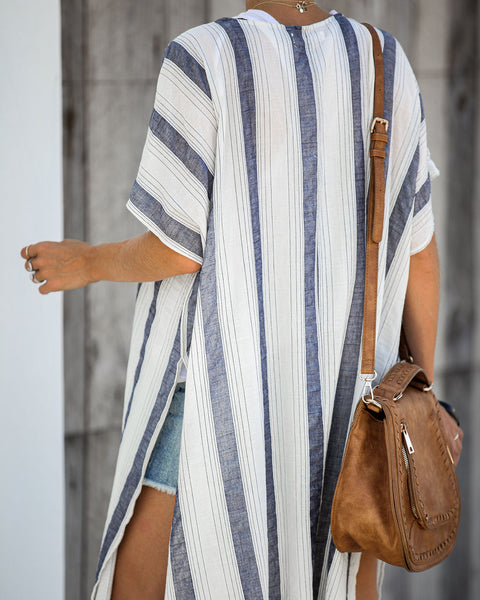 View From Up Here Striped Cotton Kimono - FINAL SALE