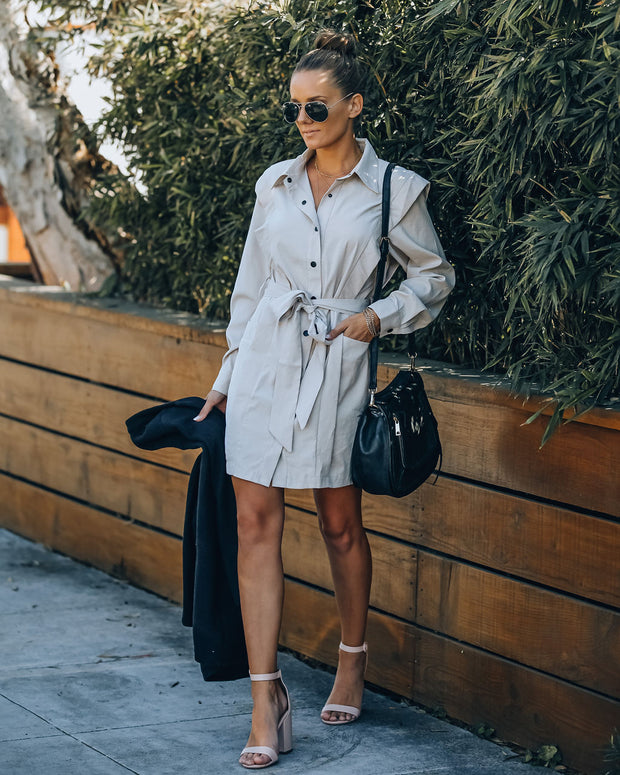 Gomez Pocketed Button Down Shirt Dress view 9