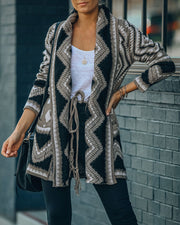 Rubicon Pocketed Tie Knit Cardigan - FINAL SALE view 3