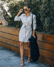 Gomez Pocketed Button Down Shirt Dress view 2