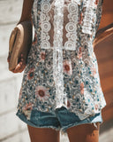 Wake Up Little Susie Floral Lace Top - FINAL SALE