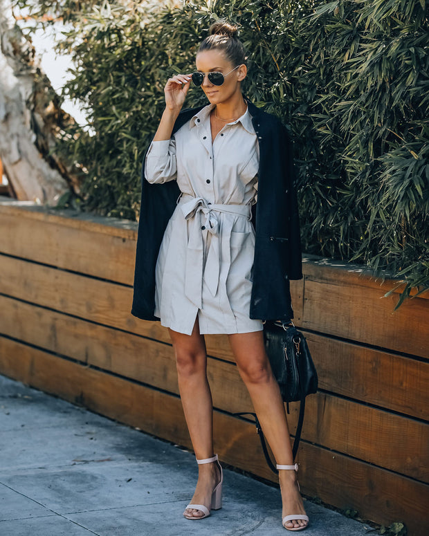 Gomez Pocketed Button Down Shirt Dress view 7