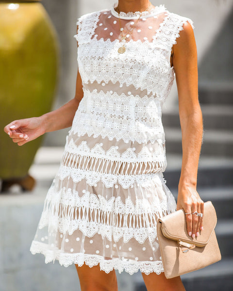 Save The Date Crochet Lace Dress
