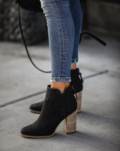 Accompany Heeled Bootie - Black