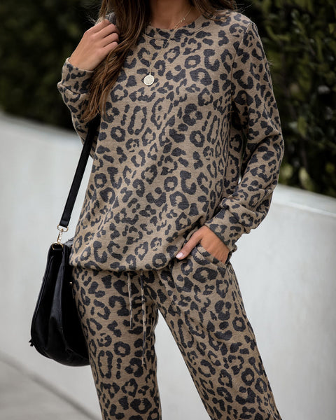 Natural Instincts Leopard Knit Tunic Top