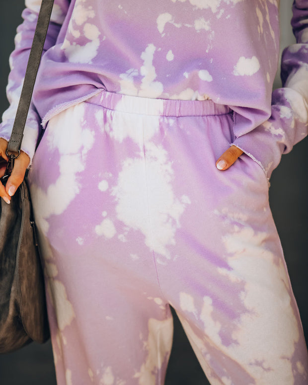 Shoot For The Sky Pocketed Tie Dye Joggers - Lavender - FINAL SALE view 4