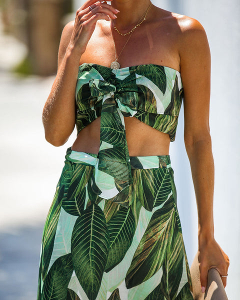 Trailing Jade Bandeau Tie Top - FINAL SALE