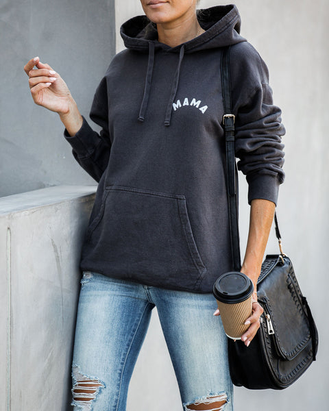 Cozy Mama Cotton Blend Pocketed Hoodie - FINAL SALE