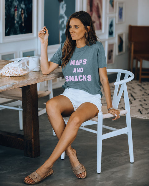 Naps And Snacks Cotton Blend Tee