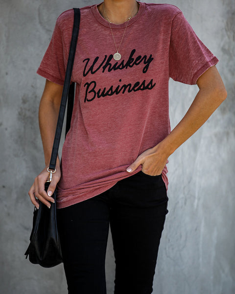 Whiskey Business Cotton Blend Tee