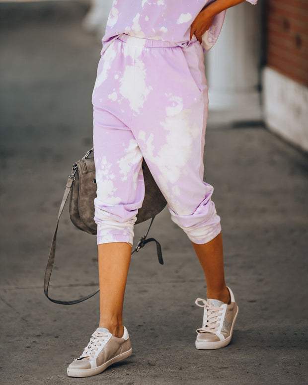 Shoot For The Sky Pocketed Tie Dye Joggers - Lavender - FINAL SALE view 8