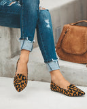 Leah Pointed Leopard Loafer