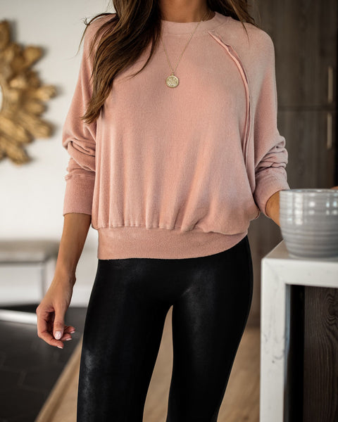 Nutcracker Dolman Knit Top - Blush
