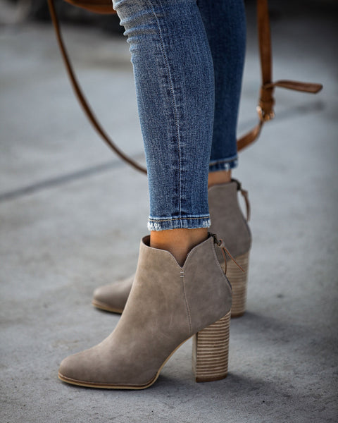 Accompany Heeled Bootie - Clay
