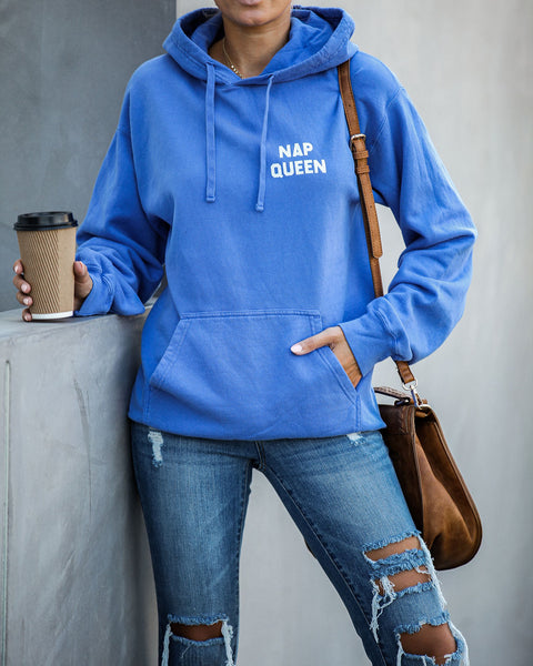 Nap Queen Cotton Blend Pocketed Hoodie - FINAL SALE