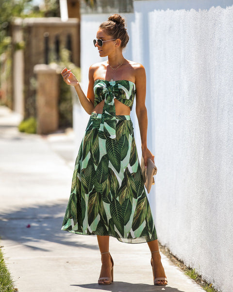 Trailing Jade Midi Skirt