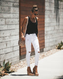 Worldwide Distressed Frayed Skinny - White