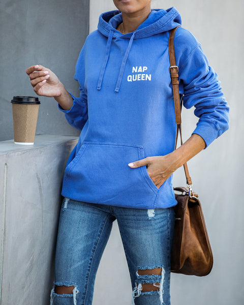 Nap Queen Cotton Blend Pocketed Hoodie