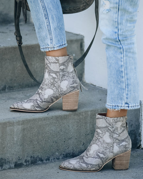 Wrong Or Right Heeled Python Bootie - FINAL SALE