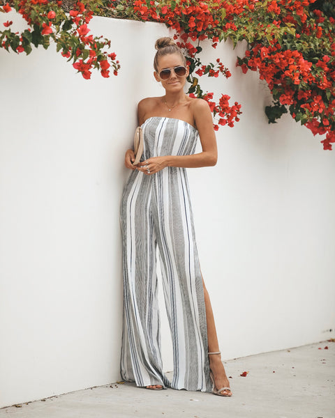 Clear The Air Strapless Jumpsuit