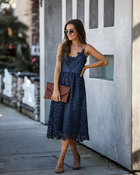 Overjoyed Crochet Lace Midi Dress