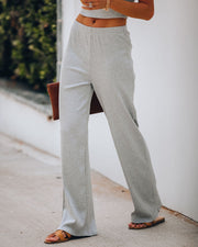 Tamara Ribbed Knit Pants - Grey - FINAL SALE