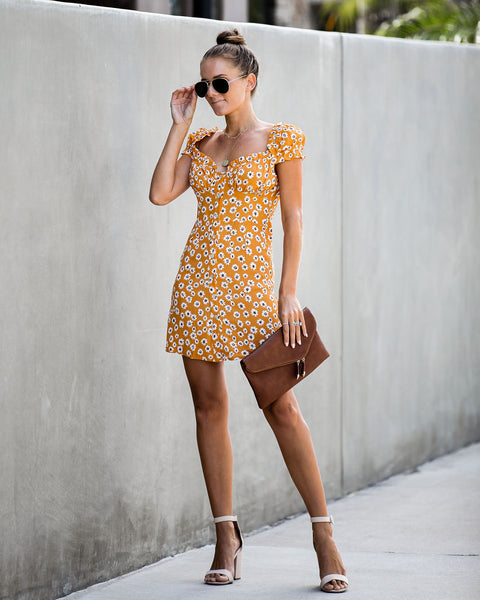 Berryessa Floral Button Down Dress