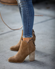 Accompany Heeled Bootie - Tan