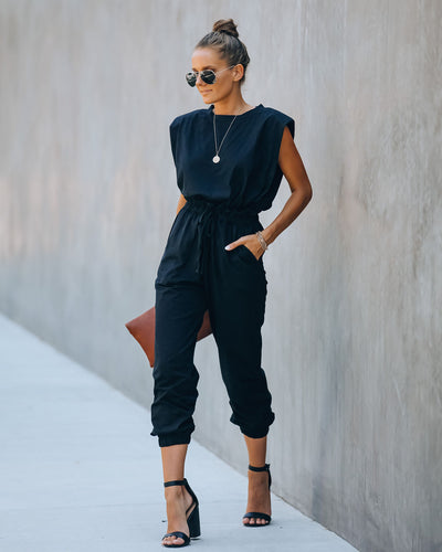 Cutting Edge Cotton Pocketed Paper Bag Waist Jumpsuit