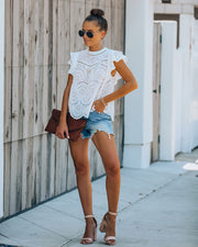 Reign Cotton Eyelet Top - Off White - FINAL SALE