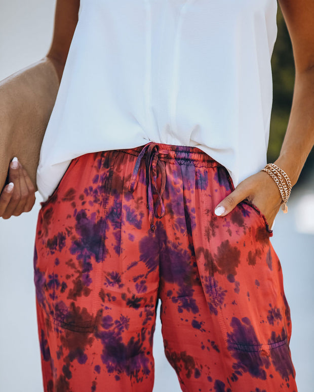 Vibrations Pocketed Tie Dye Joggers  - FINAL SALE