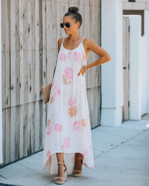 Catalina Printed High Low Maxi Dress